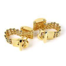 Gold Mens Chain Copper Wedding Prom Birthday Party Cufflinks Cuff Links Gift