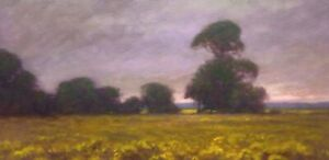 American Pastoral Wildflowers Forest Oil Painting Landscape Signed Art Original