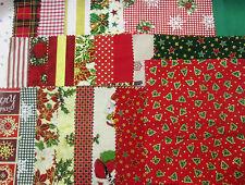 Patchwork Stoffrest Weihnachten Konvolut gemischt Handwerk Fetzen Material Verschnitte