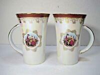 Romeo & Juliet Set Of 2 Elegant Iridescent Tea Coffee Mugs