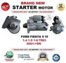 Para Ford Fiesta V VI 1.4 1.5 1.6 TDCi 2001-ON motor Arranque Nuevo 1.4 kW 12 dientes
