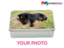 Personalised Metal Storage Tin Box - Photo Gift