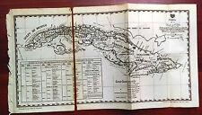 1900 Mapa de la Isla du Cuba Map