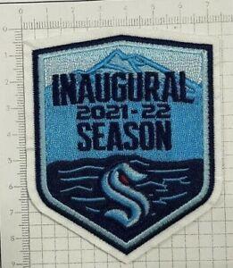 "2021 - 2022 Seattle Kraken Inaugural Season Jersey Patch 3"" x 3.5"""
