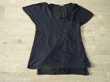 IKKS tee shirt bi matière noir 2 en 1  double débardeur voile femme T 38