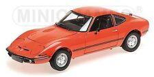 1:18 Minichamps Opel GT/J 1971 rouge limitée Edition 1/1002 (Défectueux CARTON)