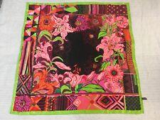 Ken Scott large silk square scarf vibrant summer colours floral