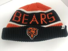 Vintage 47 BRAND Authentic NFL Team Apparel Chicago Bears Beanie Hat Cap Cuffed