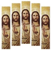 Sacred Heart Jesus Icon Religious Cloth Tapestry 5 Bookmark Bookmarks Gift