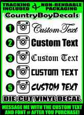 Instagram CUSTOM TEXT Handle 22x4 Vinyl Decal Sticker Car Truck Turbo Insta IG