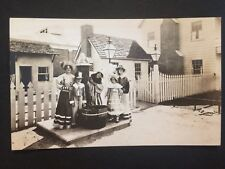 Antique REAL PHOTO POSTCARD c1927 Costumed Group Of Old Timers (20157)
