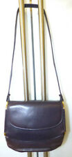 VINTAGE GUCCI NAVY BLUE LEATHER SMALL SHOULDER BAG GOLD METAL ZIPPER PULL CHARM