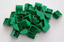 30 Lego Dachsteine Schrägsteine 2x2 grün NEU 3039