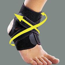 Ankle Support Brace Foot Guard Sport Injury Wrap Elasti Splint Strap Protector Z