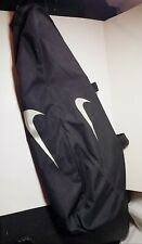 Nike Tennis Racquet Sports Team Duffle Carryl Travel Bag Black Swoosh Logo Case