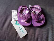 ROXY 'Lil Lila' Toe Post Style ElasticatedStrap Sandals UK5 EU21 Purple Mix BNWT