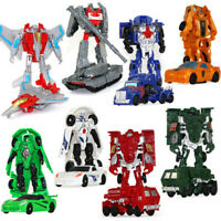 17Style 10CM Mini Transformation Robot Action Figure Cars Tank Aircraft Kids Toy