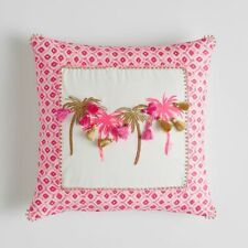 Pottery Barn Teen Lilly Pulitzer Palm Pillow Cover NEW 18x18 (pink)