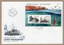 Sweden 2010 boats ships fishes birds souvenir sheet FDC