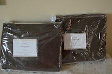 NIP Pottery Barn Peyton drapes Pole Top 50 x 63 Chocolate Linen Cotton Set of 2