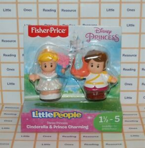 Fisher Price Little People Disney Princess CINDERELLA & PRINCE CHARMING Figure