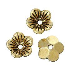 30x Perlenkappen Perlkappen Endkappen filigran Blumen für 12 mm Perlen Metall