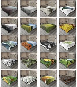 Ambesonne Forest Design Flat Sheet Top Sheet Decorative Bedding 6 Sizes