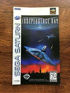 Independence Day Sega Saturn Game Instruction Manual Only
