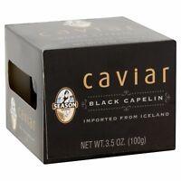 Season Black Capelin Caviar From Iceland, 3.5 oz Exp. 08/2020 FREE SHIPPING!