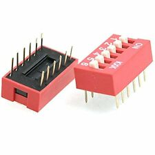 acc-200 2.54mm Pitch 6 Positions 12 Pin Red DIP Switch 6P 10 Pcs By Atomic