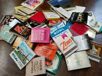 LOT OF 50 RANDOM VINTAGE MATCHBOOKS MOST ARE UNSTRUCK