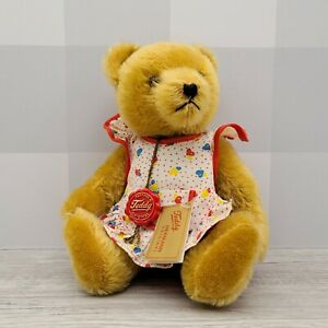 """Hermann German Mohair 12"""" Jointed Golden Teddy Bear with Balloon Outfit"""