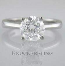 Diamond Solitaire Ring 1.70ct Certified H Exc Exc Exc Brilliant 18ct White Gold