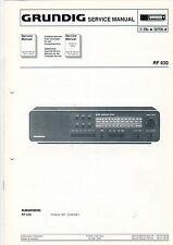 Grundig Service Anleitung Manual RF 630  B529