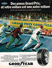 PUBLICITE ADVERTISING 045  1970  GOODYEAR  pneus G 800 GRAND PRIX