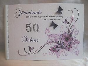 Gästebuch Din A5 Geburtstag 18 20 30 40 50 60 70 80 90  Geschenk Deko
