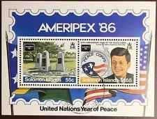 Solomon Islands 1986 Ameripex Minisheet FU