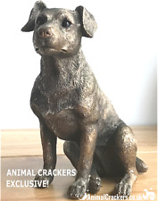 More details for leonardo bronzed jack russell terrier ornament figurine ac exclusive! gift boxed