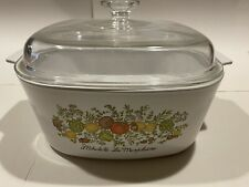 Vintage Corning Ware 5 liter Spice Of Life Dutch Oven Casserole with Lid