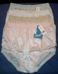 4 Pair Lace Elastic 100% Nylon Assorted Panties Size 14 Carole Panty USA Made