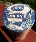 """Budweiser Bud Light, The Grove St. Louis, 4"""" Bar Table Coasters New Approx. 125"""