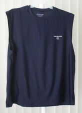 Muscle Shirt Navy Gold's Gym Dri Stretch Large