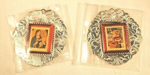 1995 USPS Silver plated limited Stamp Ornament set (Traditional & Contemporary)