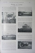 1898 BOER WAR ERA PRINT ~ MANILA OF TO-DAY BARRACKS ESCOLTA RIVER PASIG