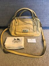 Coach Kristin Yellow Leather Double Zip Satchel Crossbody Handbag F22304 $428