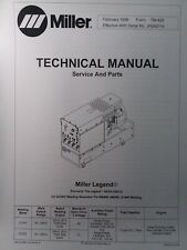 Miller Legend Aead 200le Acdc Welder Service Amp Parts Manual Gmaw Gtaw Smaw