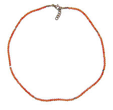 Pink Coral Necklet With Sterling Silver Clasp & Beads - Was £95