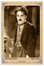 Silent Film Legend Charlie Chaplin Vintage Photo A+ Reprint Cabinet Card CDV
