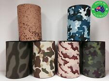 6x Military CAMOUFLAGE Designer Beer Can Stubby Holder Cooler Koozie