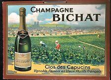 CHAMPAGNE BICHAT  CLOS DES CAPUCINS  CARTON PUBLICITAIRE